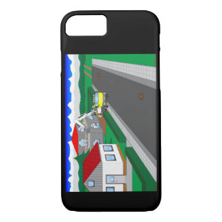 Roads and building of houses iPhone 7 case