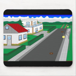 Roads and building of houses mouse pad