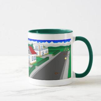 Roads and building of houses mug