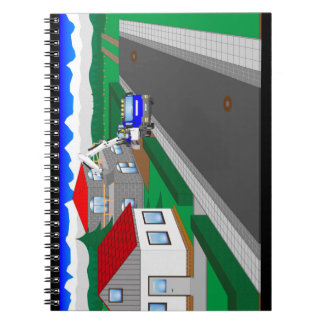 Roads and building of houses notebook