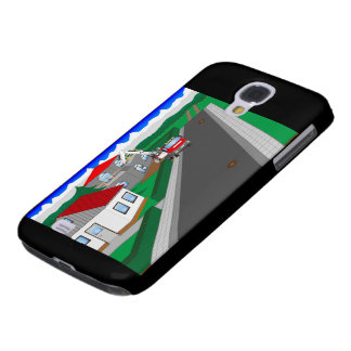 Roads and building of houses samsung galaxy s4 cases