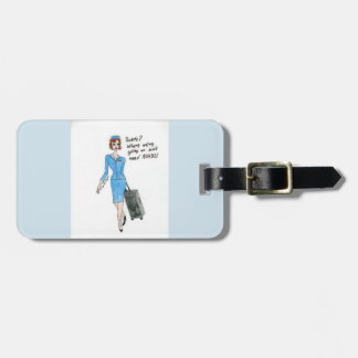 """Roads? Where we're going we don't need roads!"" Luggage Tag"