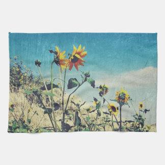 Roadside Conversation Sunflower Kitchen Towel