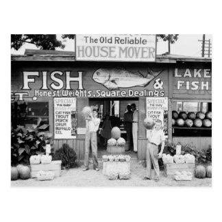 Roadside Market 1936 Post Cards