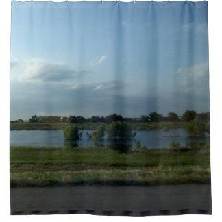 Roadside Pond Shower Curtain