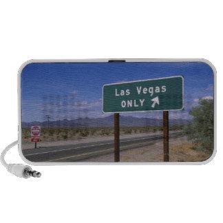 Roadside sign showing direction, California Travelling Speaker