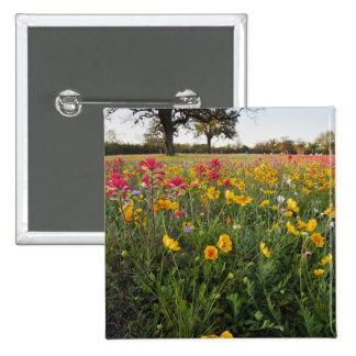 Roadside wildflowers in Texas, spring 15 Cm Square Badge