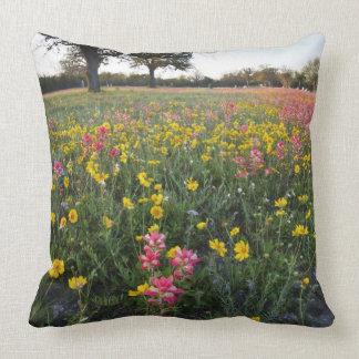 Roadside wildflowers in Texas, spring 3 Throw Cushions