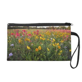 Roadside wildflowers in Texas spring Wristlet Purses