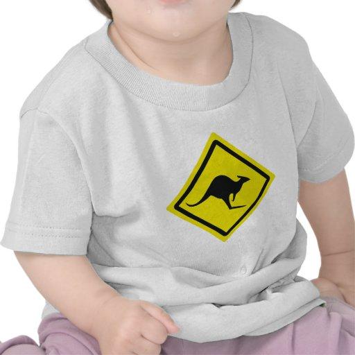 roadsign australia kangaroo icon t-shirt