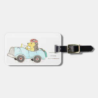 Roadster Hedgehog Luggage Tag