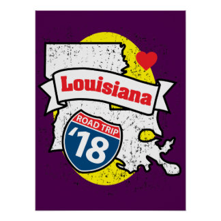Roadtrip '18 Louisiana - purple poster