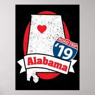 Roadtrip '19 Alabama - dark poster