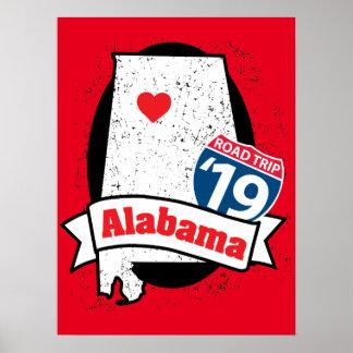 Roadtrip '19 Alabama - red poster