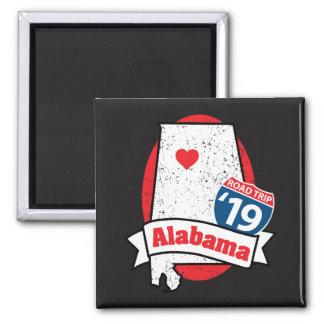 Roadtrip '19 Alabama - square magnet
