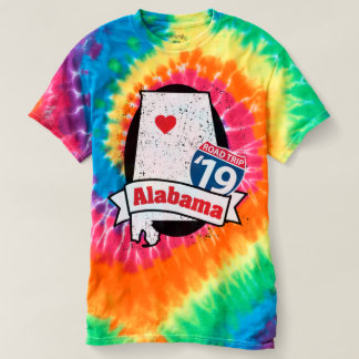 Roadtrip Alabama '19 T-shirt (rainbow)