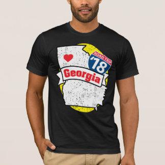 Roadtrip Georgia '18 T-shirt (black/yellow)