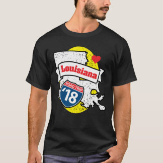 Roadtrip Louisiana '18 T-shirt (black)