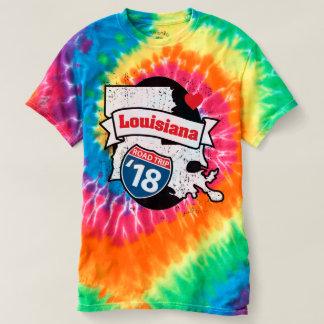 Roadtrip Louisiana '18 T-shirt (rainbow)