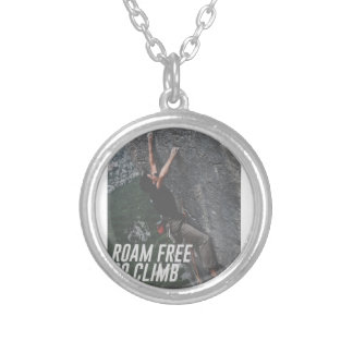 Roam Free Go Climb Rock Wall Adrenaline Silver Plated Necklace