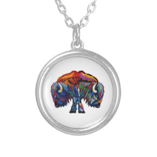 ROAM THE PLAINS SILVER PLATED NECKLACE