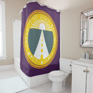 roam until the road becomes home shower curtain