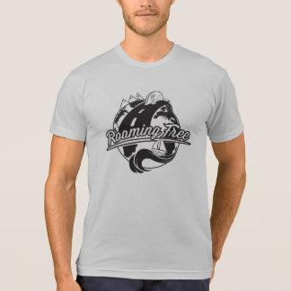 Roaming Free Mens Front Logo B/W T Shirt