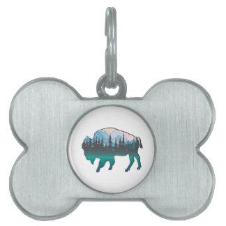 Roaming Yellowstone Pet ID Tag