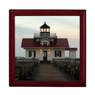 Roanoke Island Lighthouse Large Square Gift Box