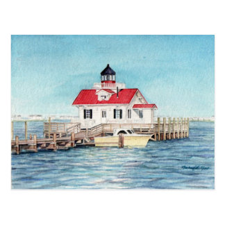 Roanoke Island Lighthouse Postcard