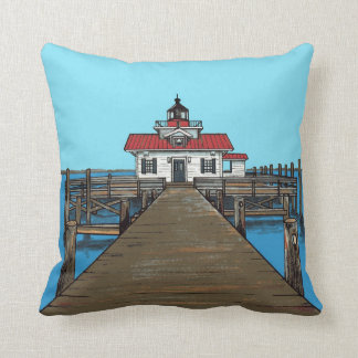 Roanoke Marshes Lighthouse-pillow Cushion