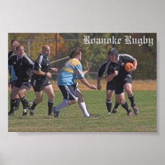 Roanoke Rugby - Ben Call Poster