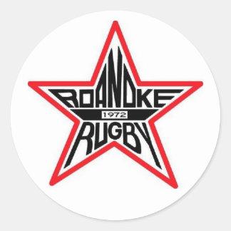 Roanoke Rugby Round Sticker