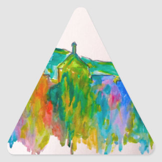 Roanoke Sparkle Triangle Sticker