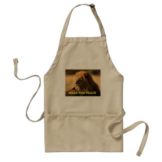 ROAR FOR PEACE APRON
