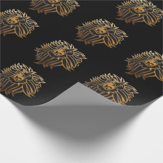 Roar Lion Graphic Wrapping Paper