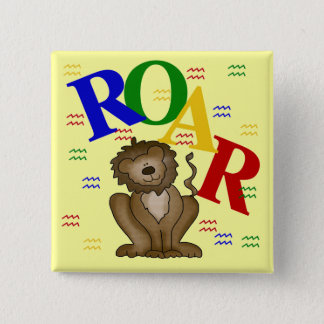 Roar Lion T-shirts and Gifts 15 Cm Square Badge