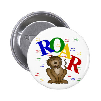 Roar Lion T-shirts and Gifts Buttons