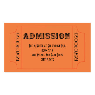 Roaring 20 s Speakeasy Theme Party Tickets Business Card Templates