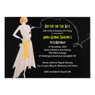 Roaring 20's - Flapper Party Invitations