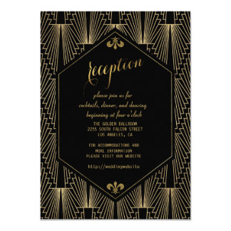 Roaring 20s Great Gatsby Art Deco Reception Card