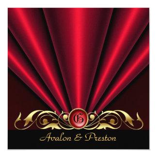 Roaring 20's Red Art Deco Bridal Shower Invitation