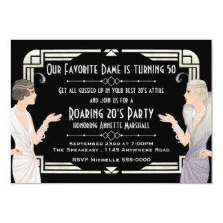 Roaring 20's Speakeasy Birthday 13 Cm X 18 Cm Invitation Card