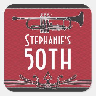 Roaring 20s Twenties Speakeasy 50th Birthday Party Square Sticker