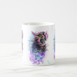 Roaring Cat Water Colour Coffee Mug