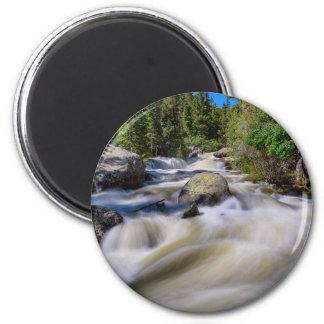 Roaring Colorado Ouzel Creek 6 Cm Round Magnet