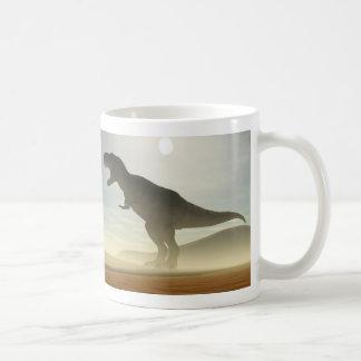 Roaring Dinosaur Basic White Mug