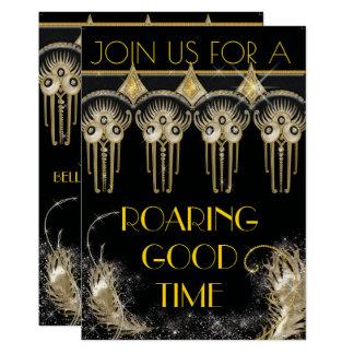 Roaring Gatsby Bling Party Invitations