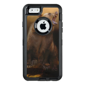 Roaring grizzly bear OtterBox defender iPhone case