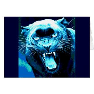Roaring Jaguar Greeting Card